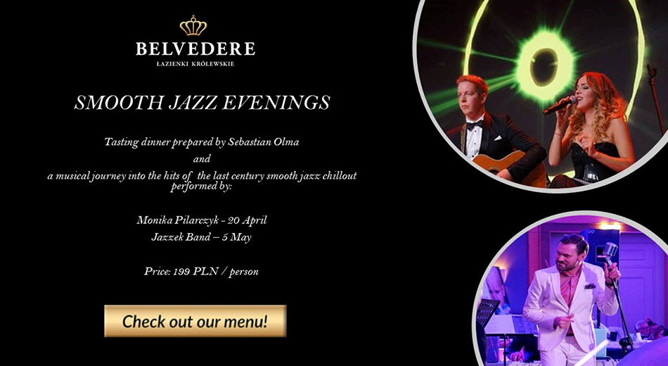 Smooth Jazz evenings at the Belvedere Restaurant
