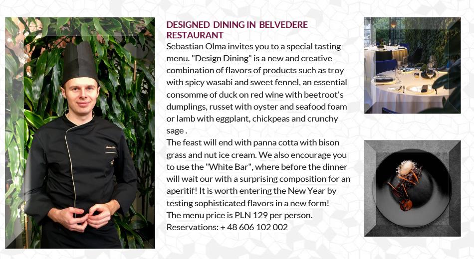 Designed Dining in Belvedere Restaurant